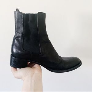 Auth. Prada Black Leather Chelsea Boots